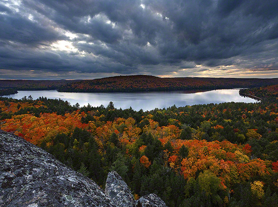 Autumn Fall Foliage Booth Rock Outlook Algonquin Provincial Park